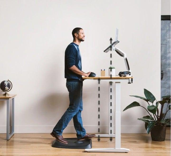 DIY standing desk with Adjustment Capabilities