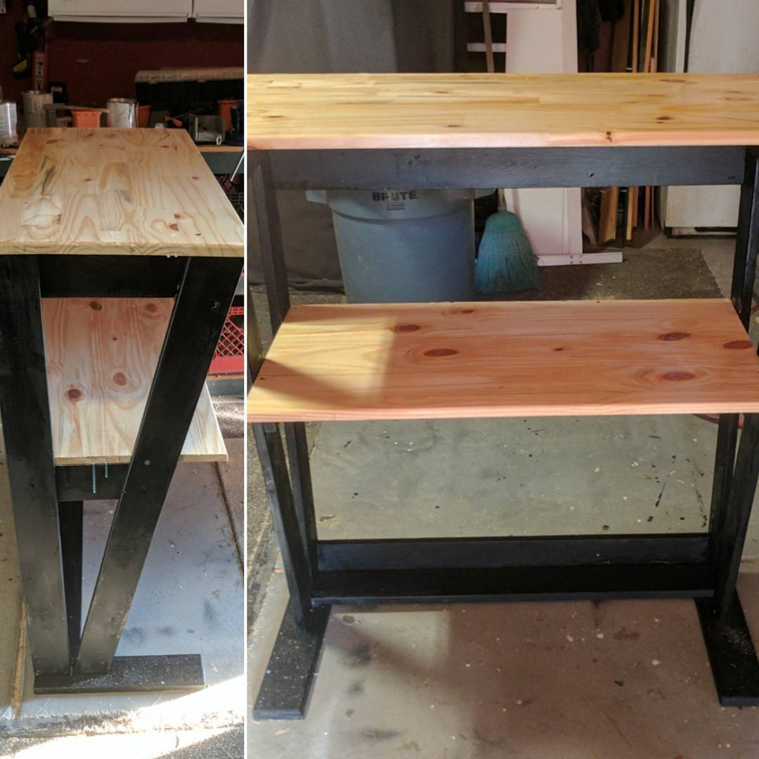 Materials with DIY standing desk