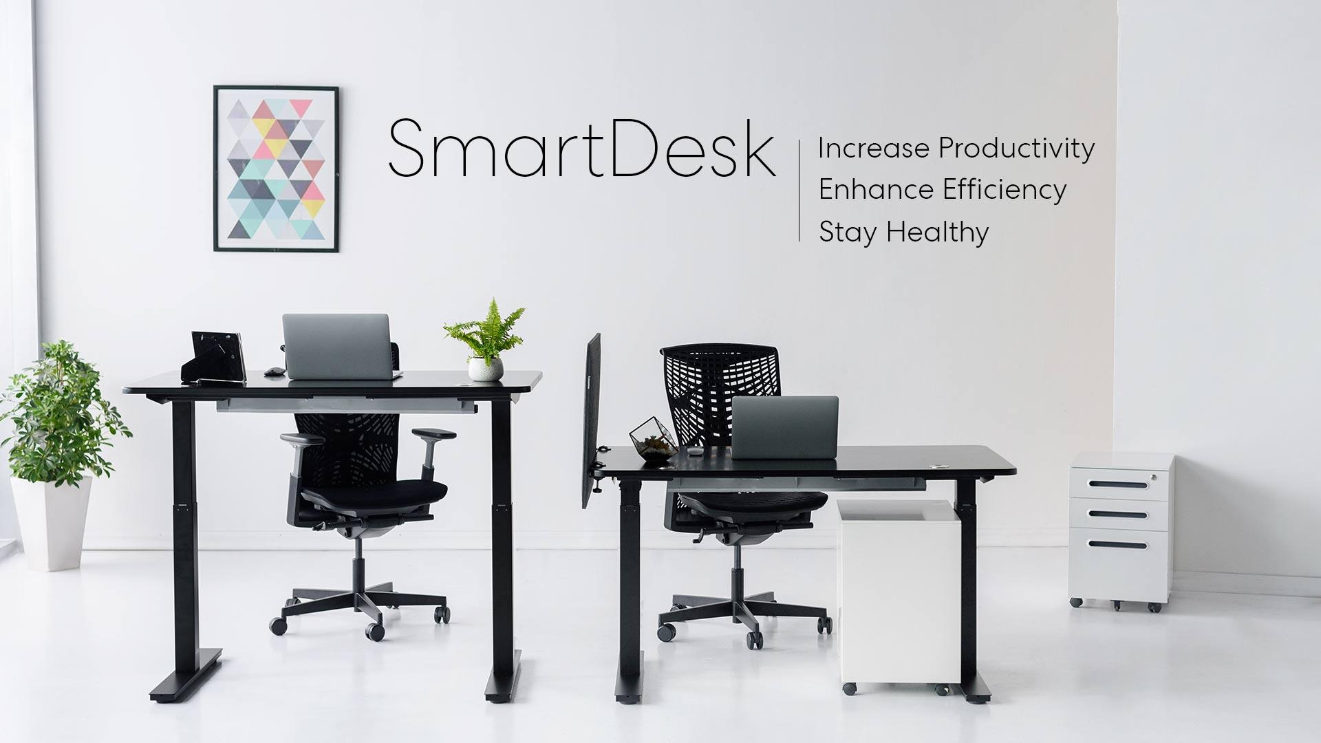 smart desk, adjustable standing desk