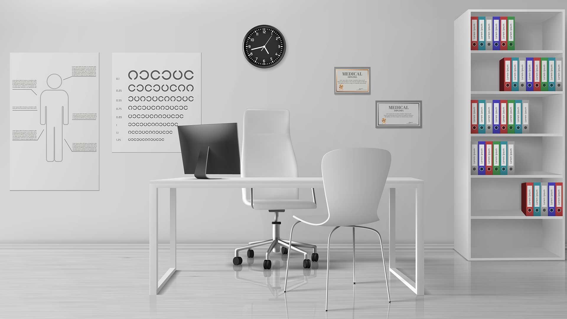new desk layout