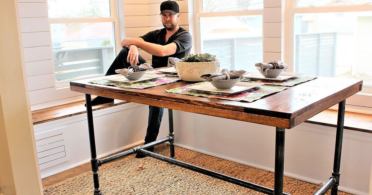 Steel Pipe Industrial Homemade Standing Desk