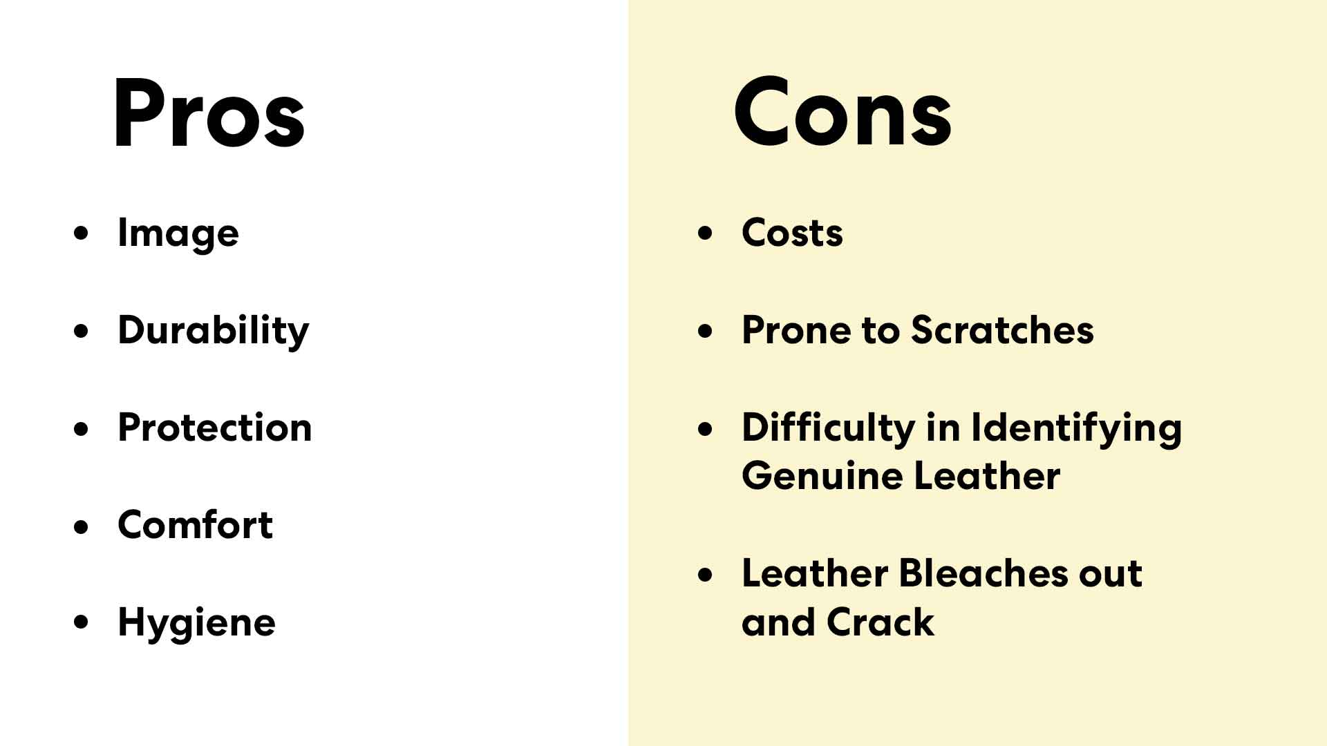 pros and cons of leather