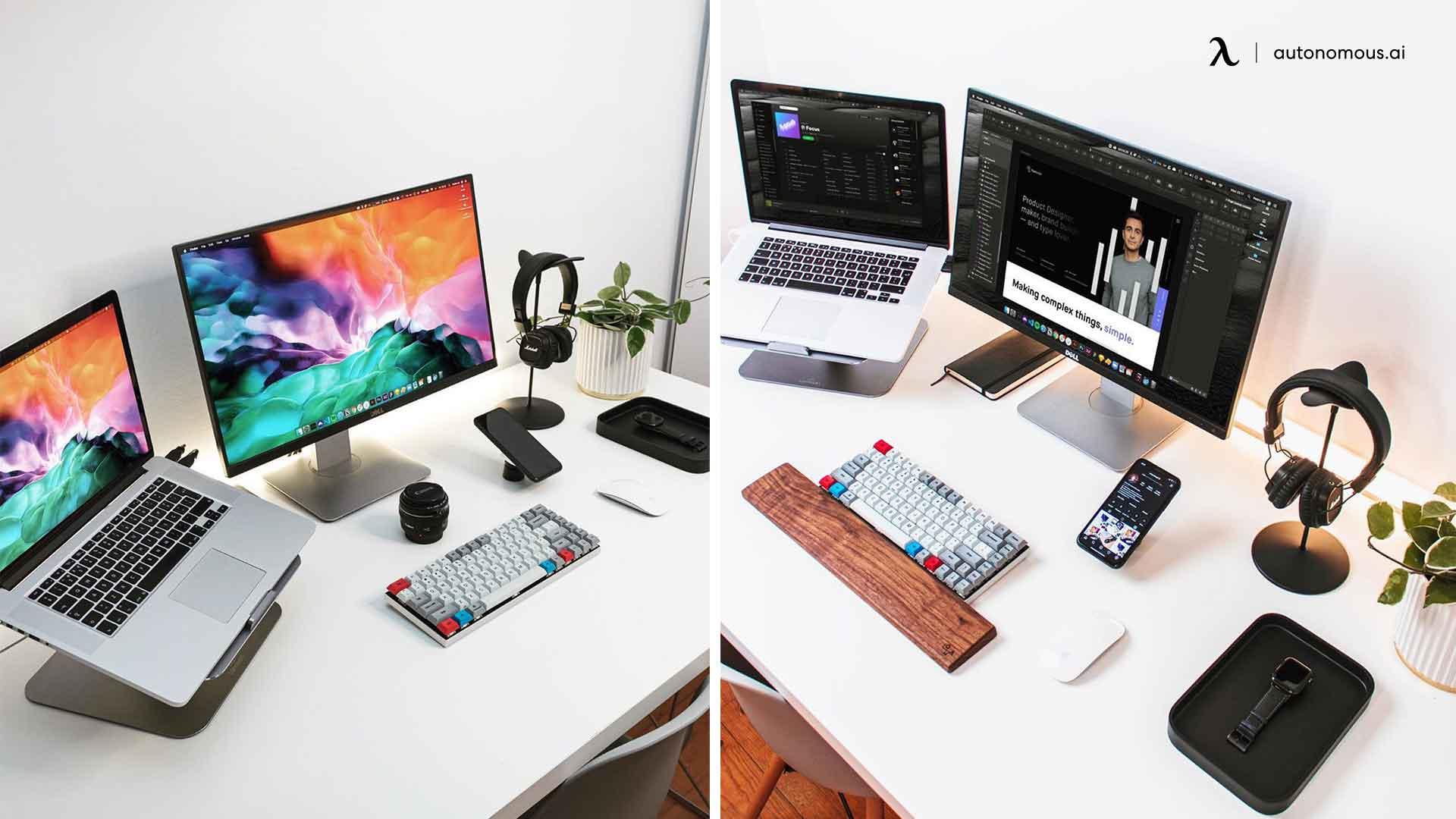minimal desk setup