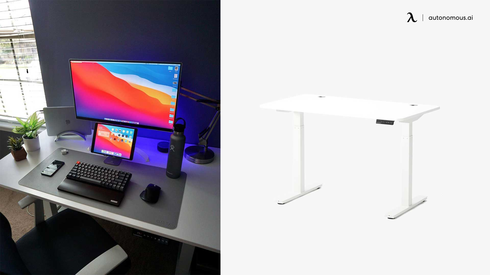 image relates to standing desk