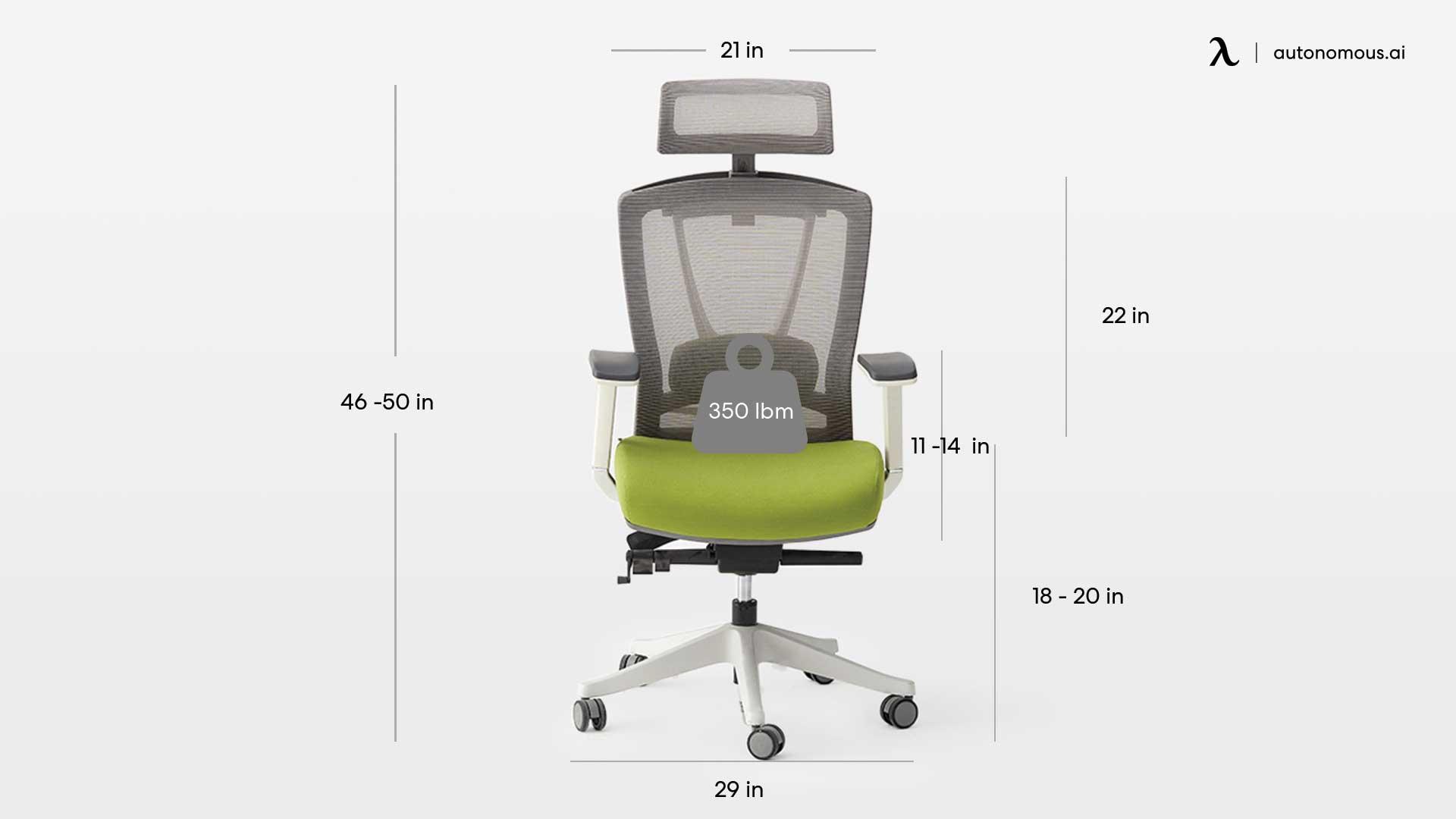 image relates to Ergo chair 2 specs