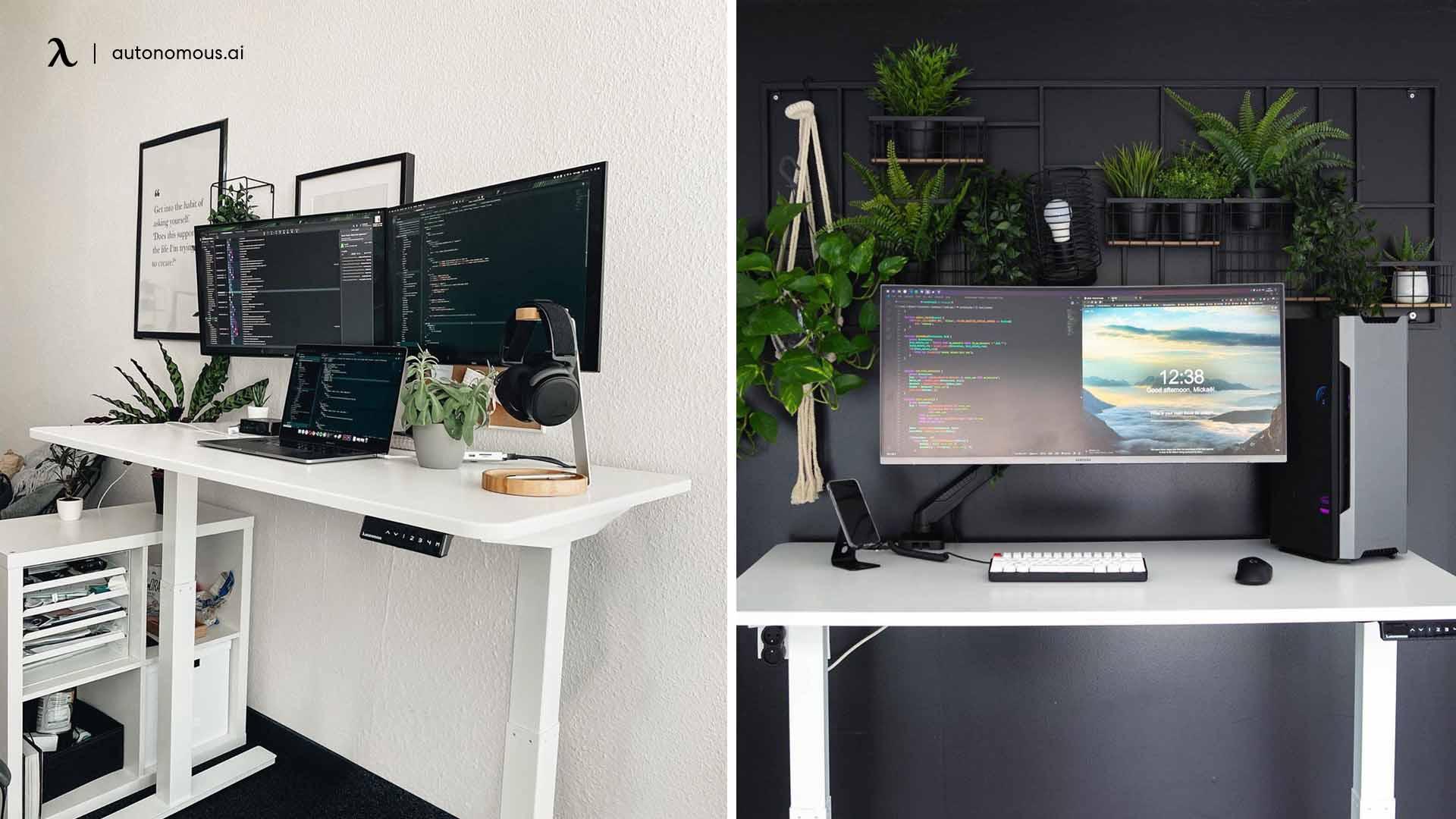 desk setup for developer