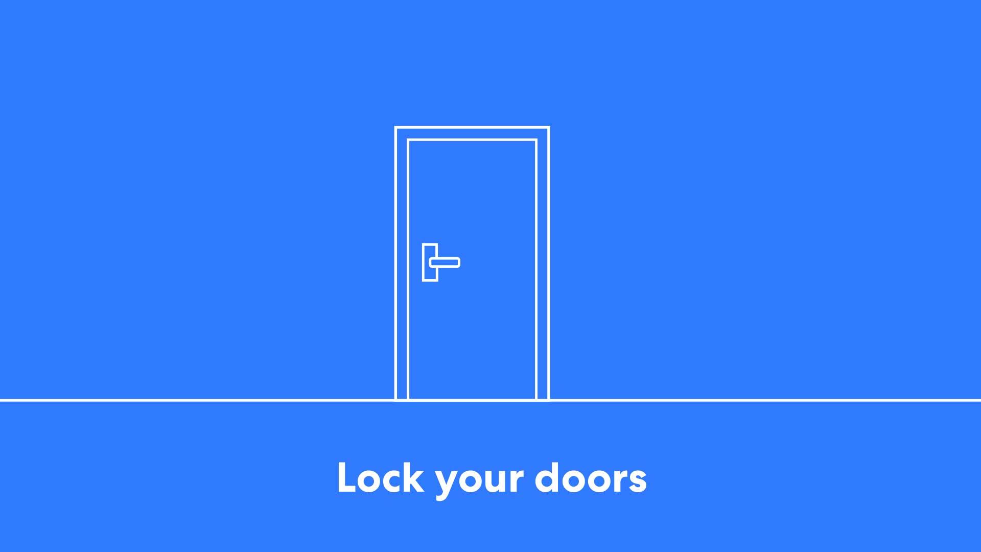 image relates to Lock your door
