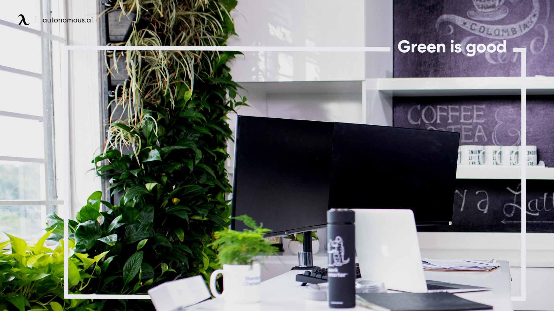 Most productive desk setup with plants