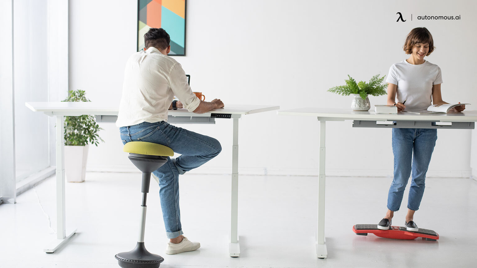 photo of sit standing chairs