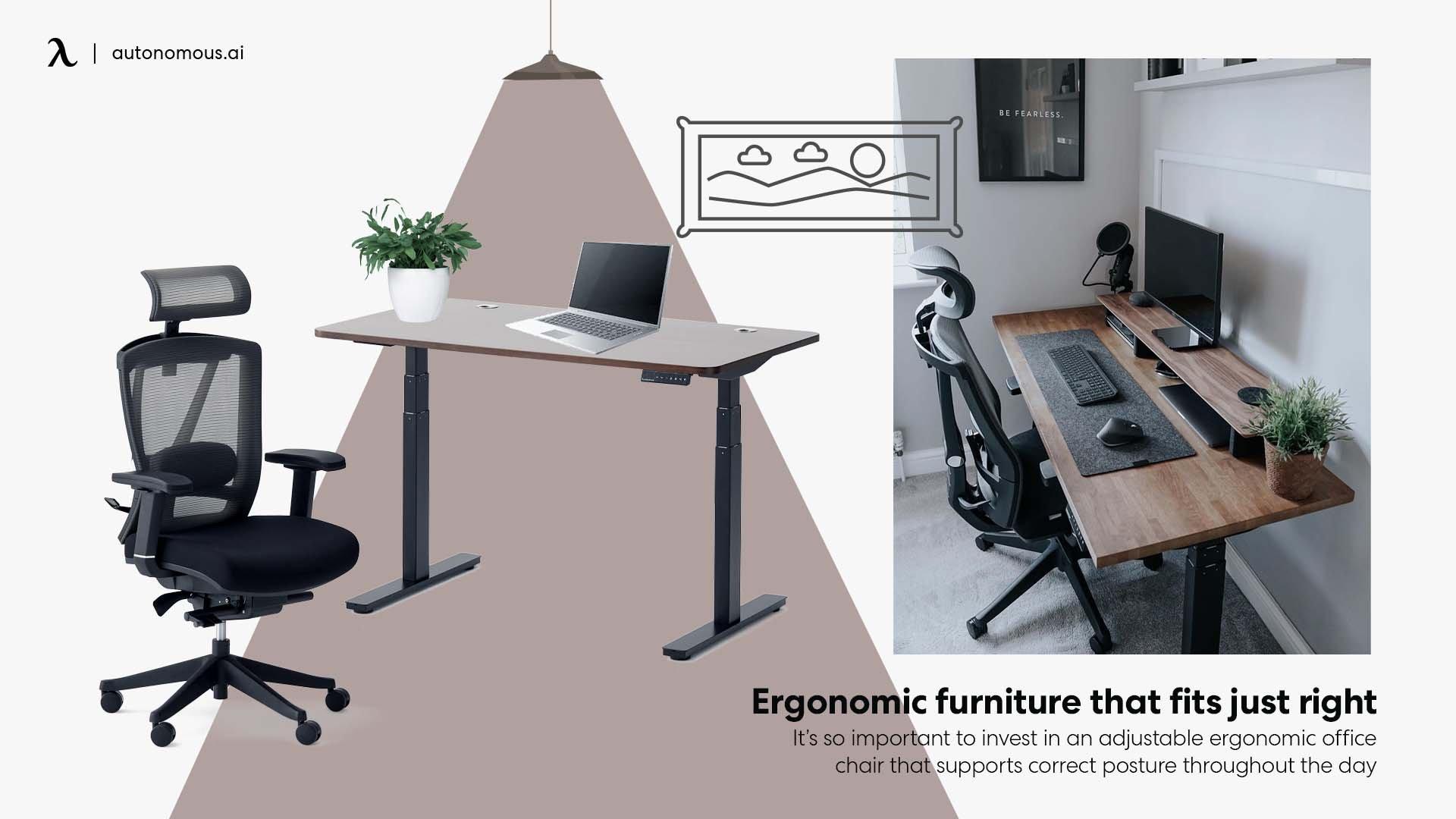 photo of Ergonomic furniture