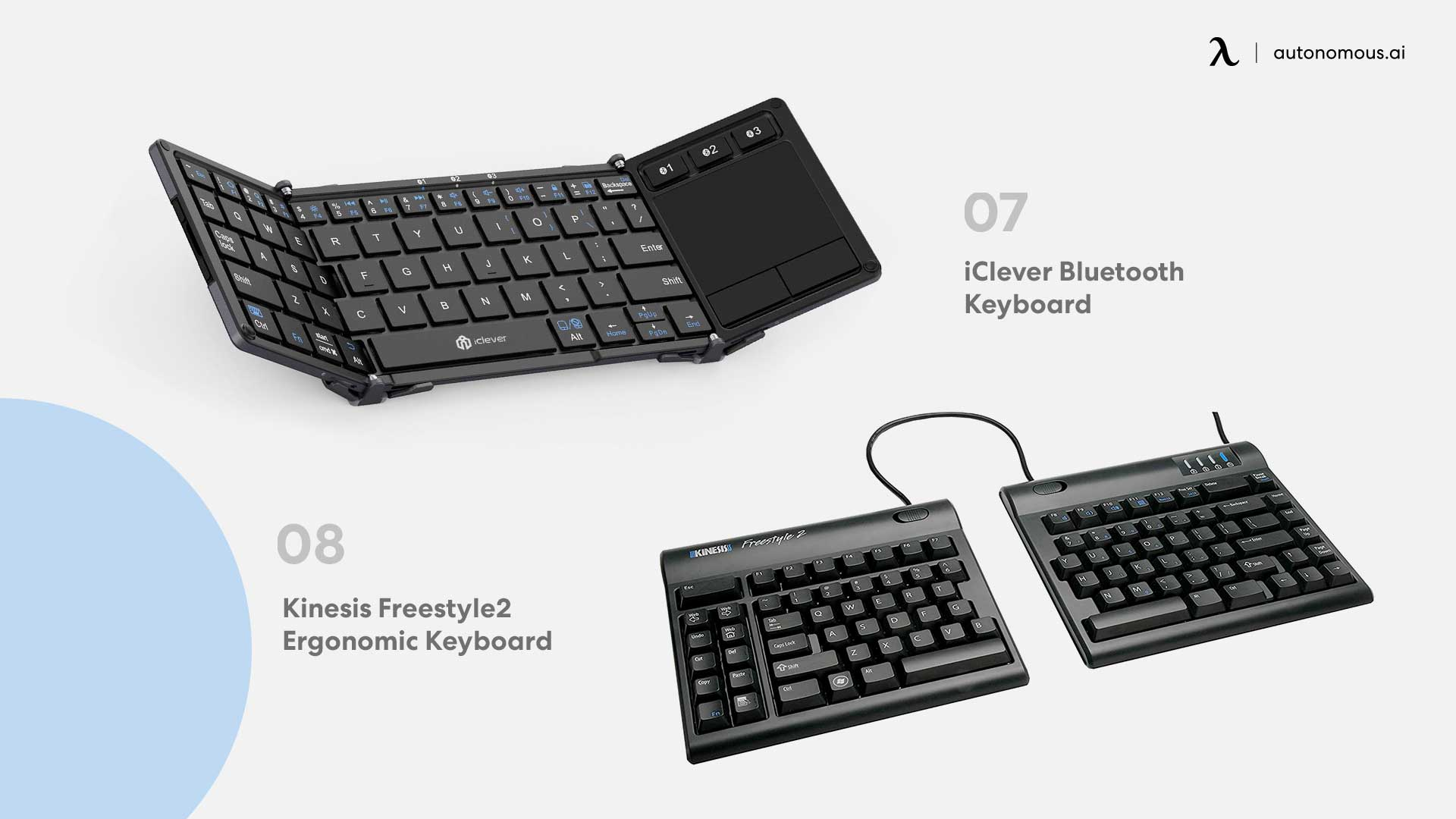 Photo of iClever Bluetooth and Kinesis Freestyle