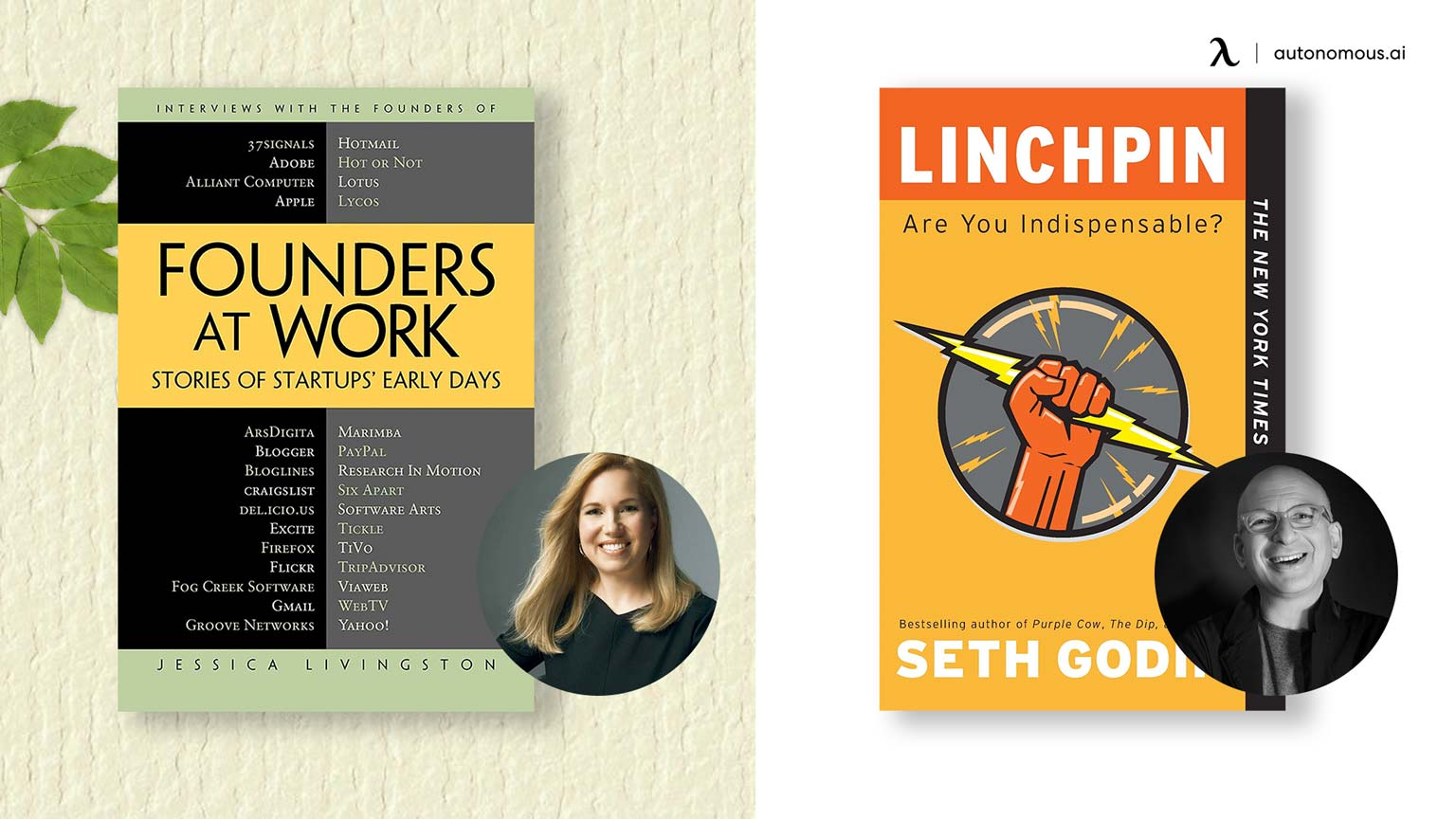 Photo of Founders at Work and Linchpin