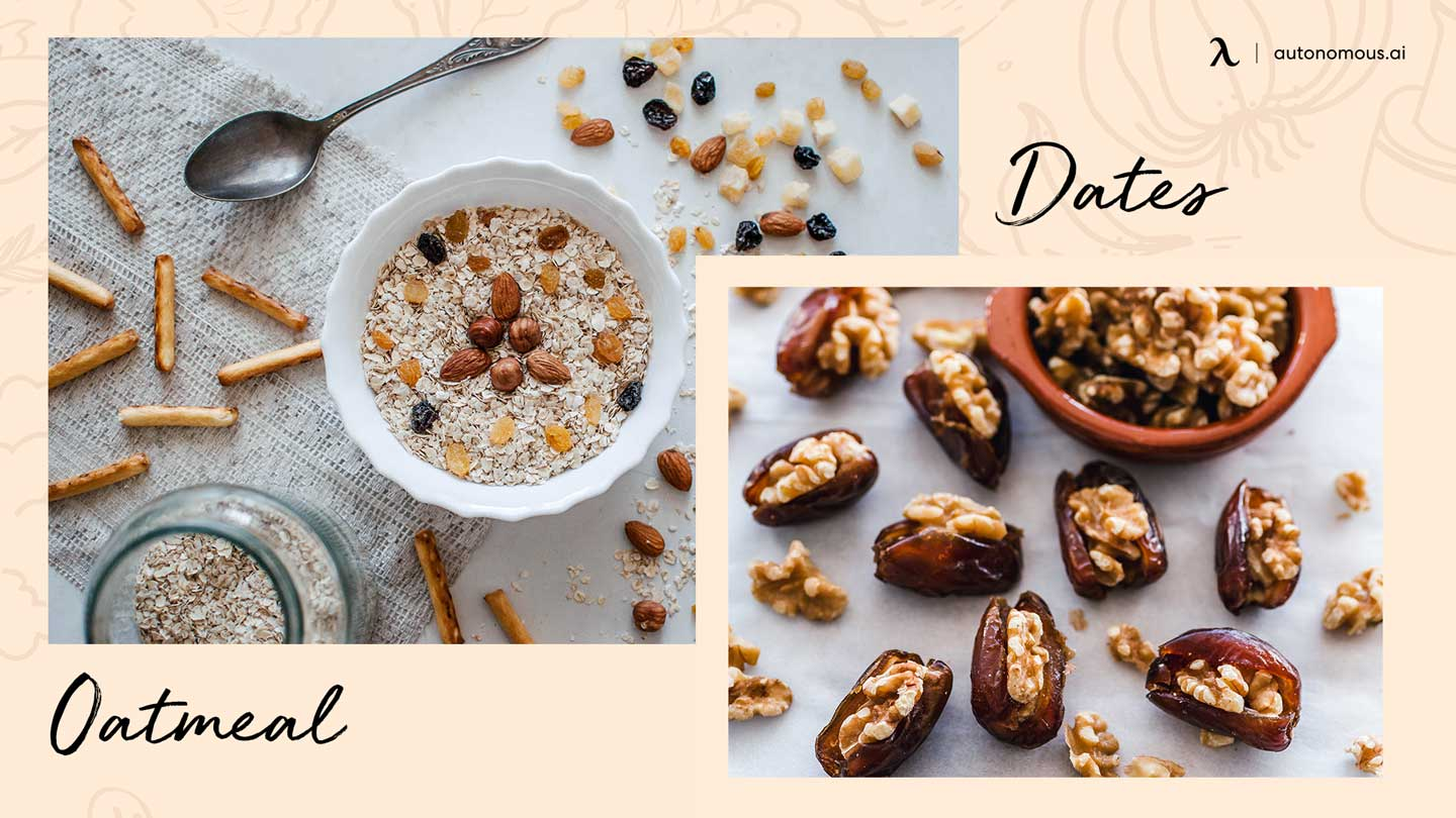 Photo of superfoods for energy oatmeal and dates