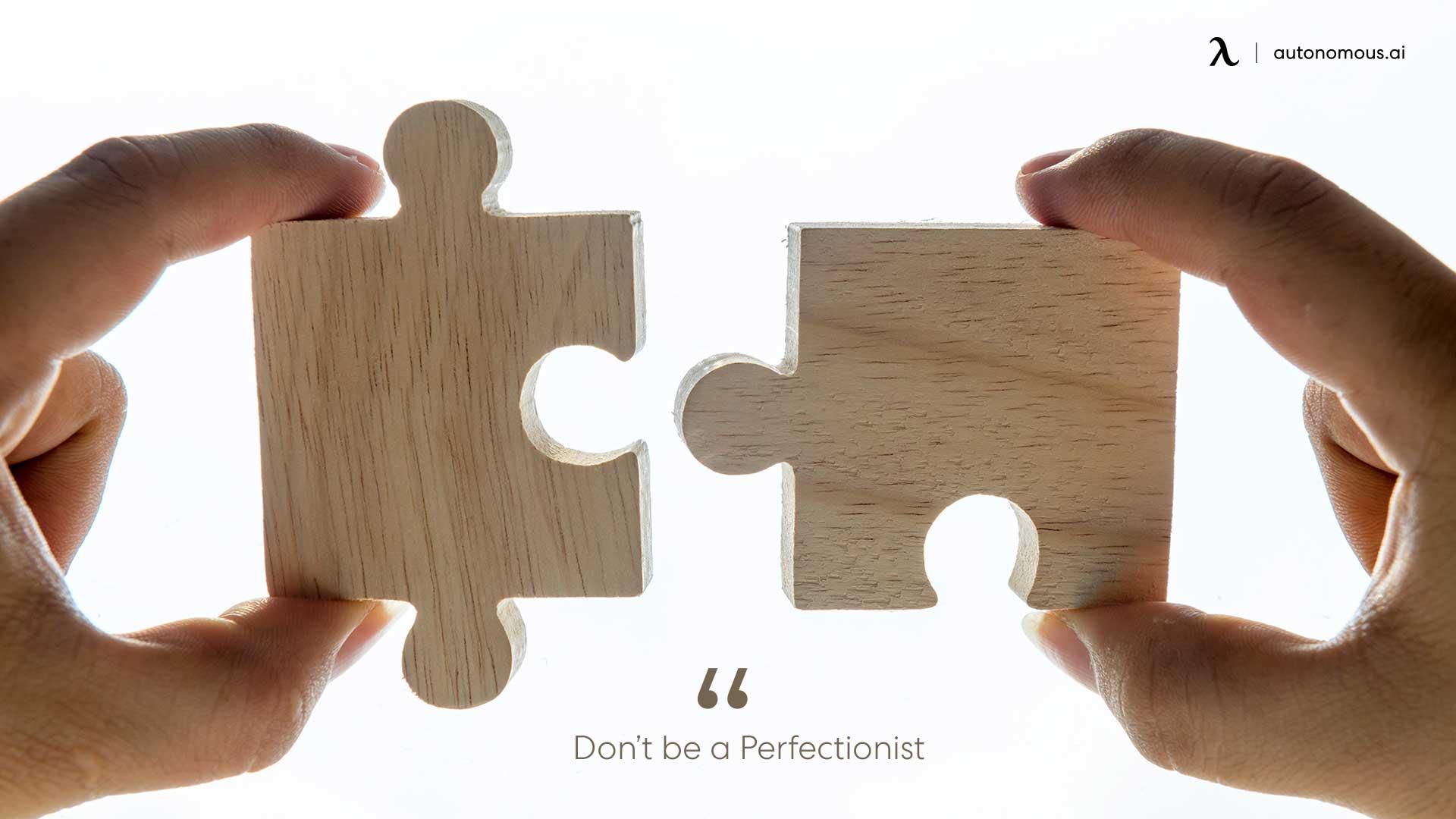 Photo of perfectionist