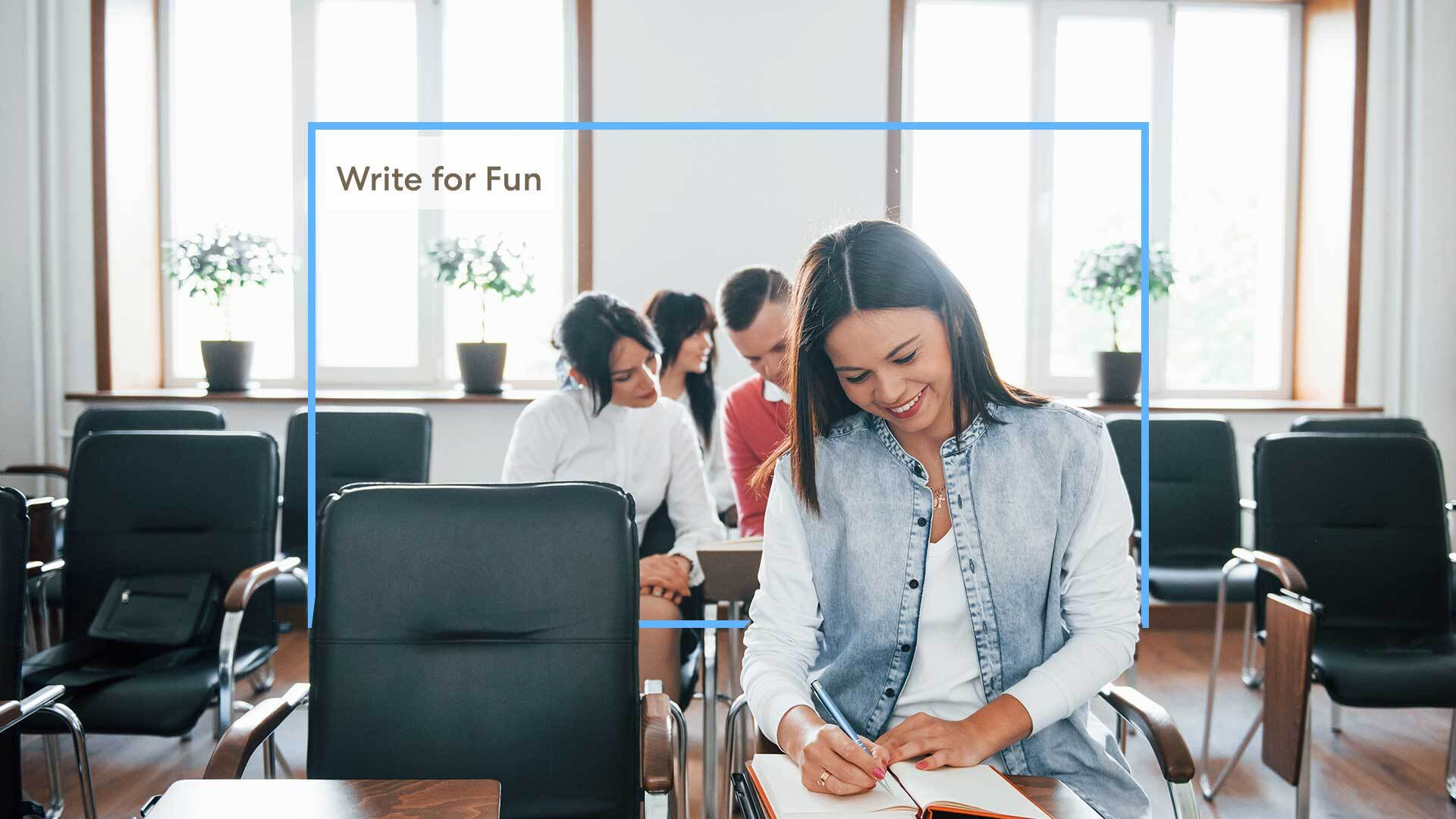 Photo of Write for fun