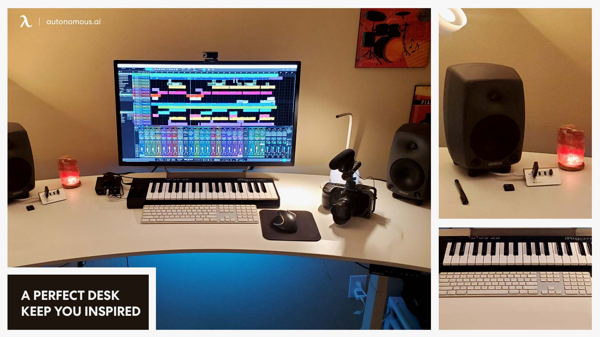 Photo of a perfect desk setup for artists to keep you inspired