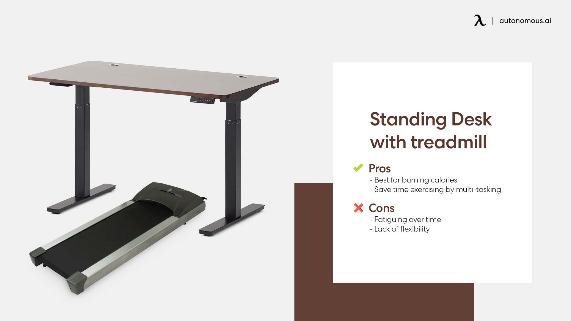 Photo of standing desk with treadmill