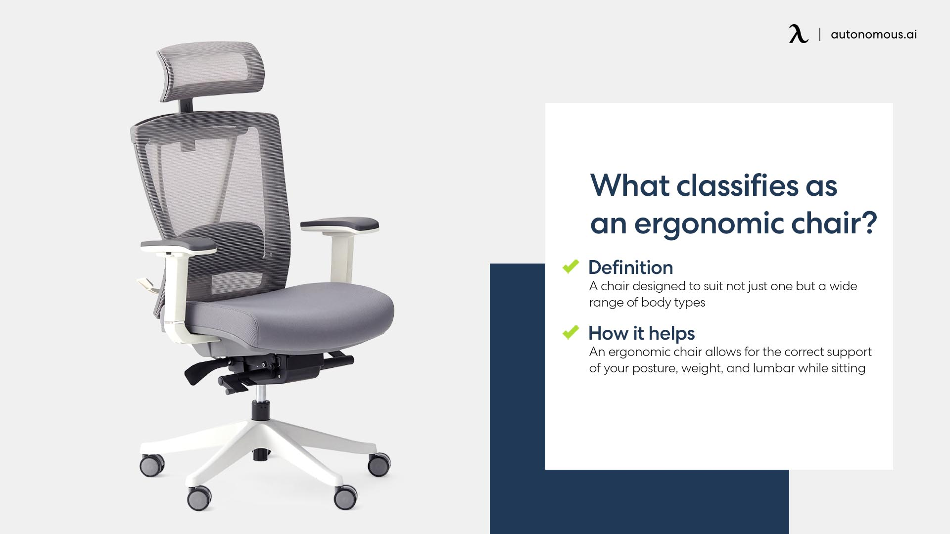 Photo of classifies as an ergonomic chair features