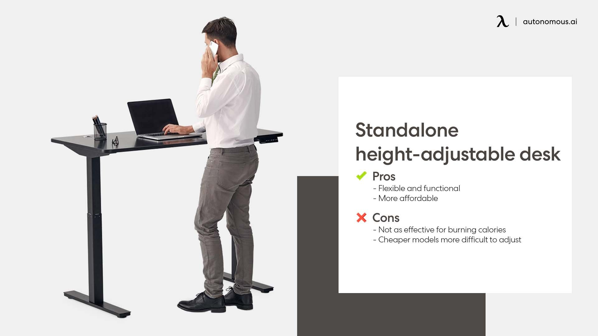 Photo of standalone height-adjustable desk