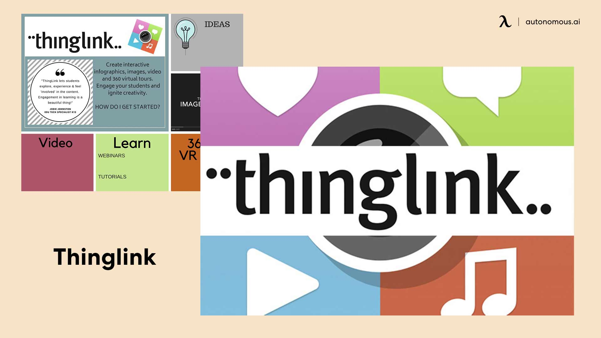 Photo of thinglink of teachers working from home