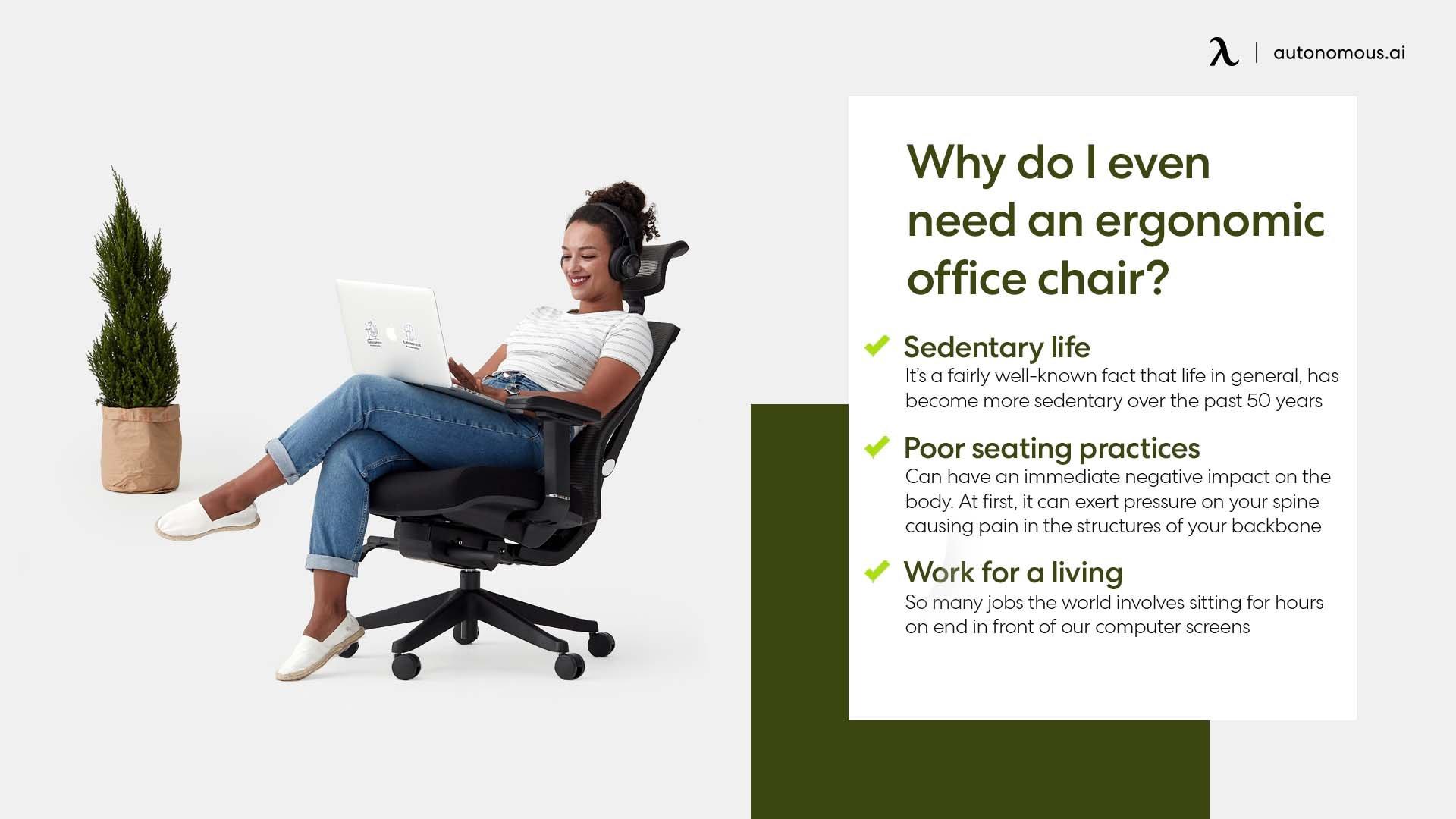 Photo of reason need an ergonomic office chair
