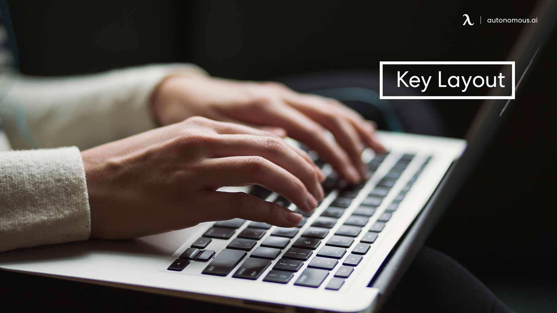 Photo of ergonomic keyboard key layout