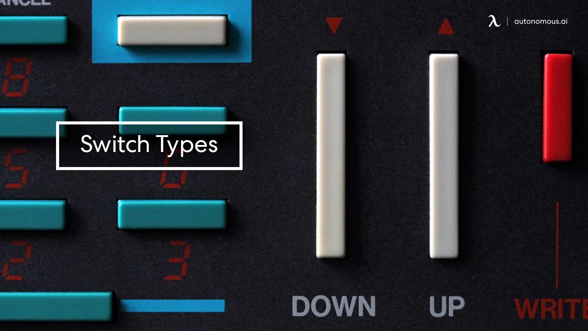 Photo of ergonomic keyboard switch types