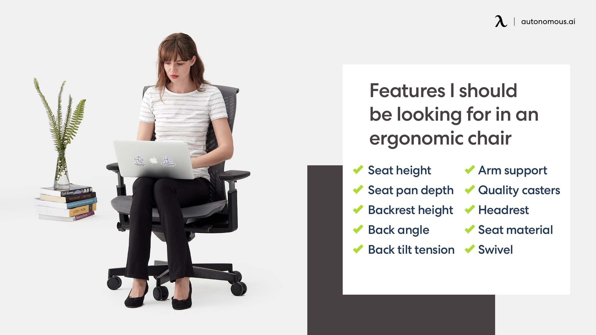 Photo of features I should be looking for in an ergonomic office chair