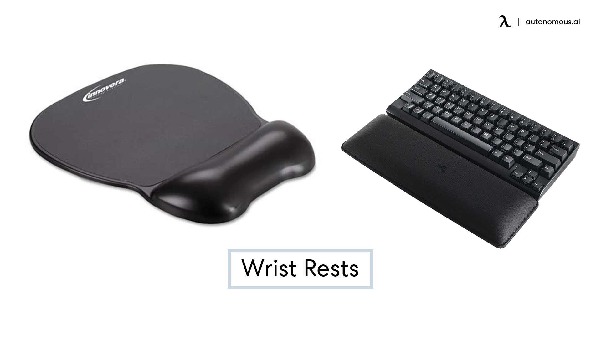 Photo of ergonomic keyboard wrist rests
