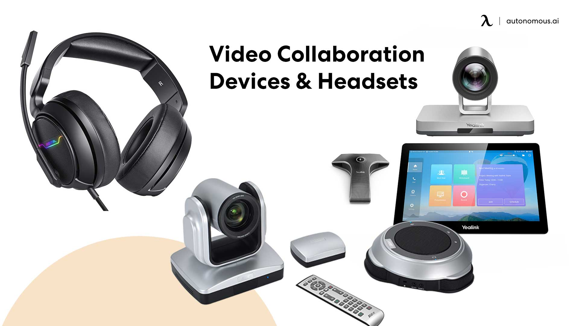 Photo of cideo collaboration devices for teachers working from home