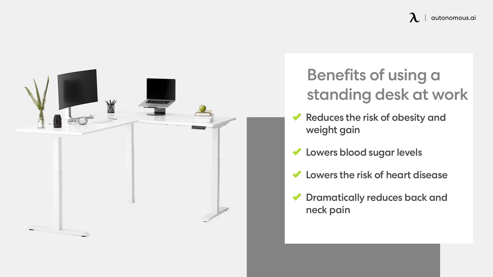 Photo of benefits of using a standing desk