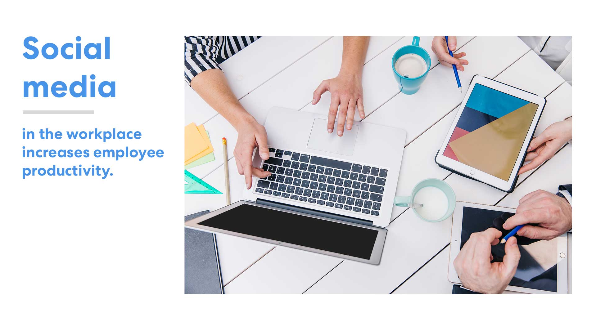 Photo of Social media in the workplace increases employee productivity