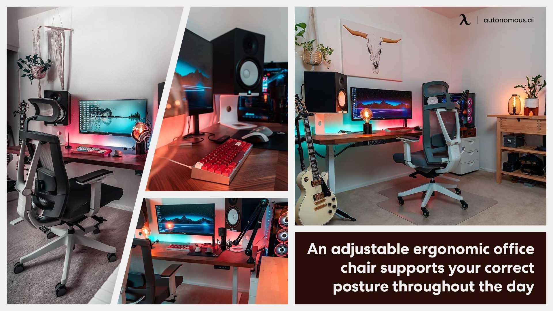 Desk setup with smart chair