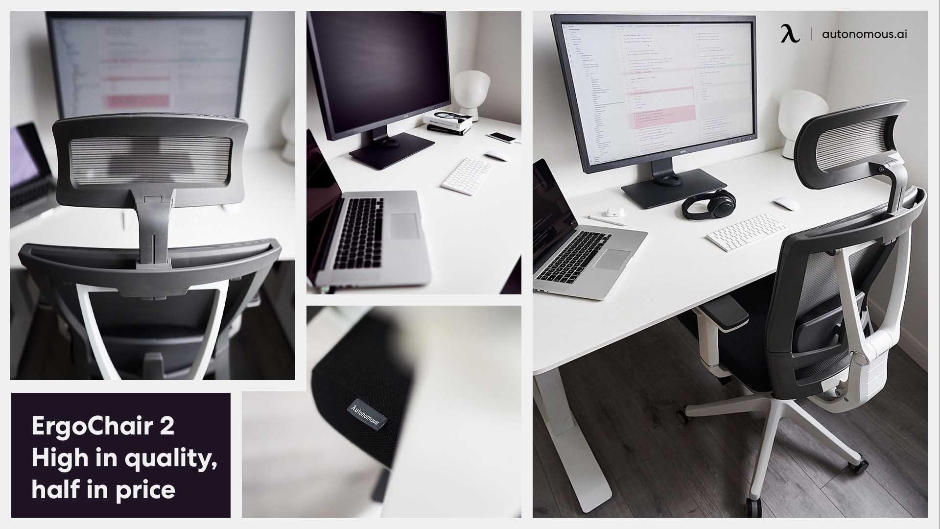 Photo of student desk set up ErgoChair 2 from Autonomous