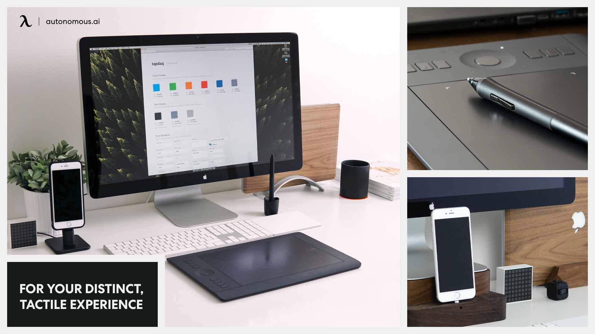 Desk setup with smart items
