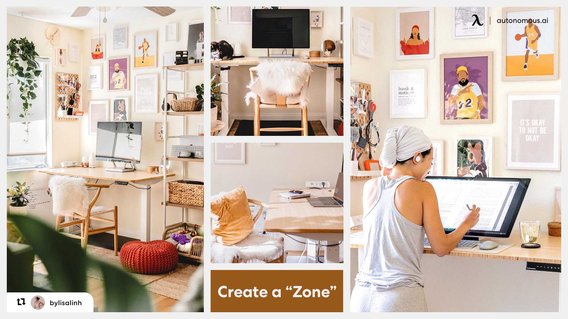 Private zone for your small home office