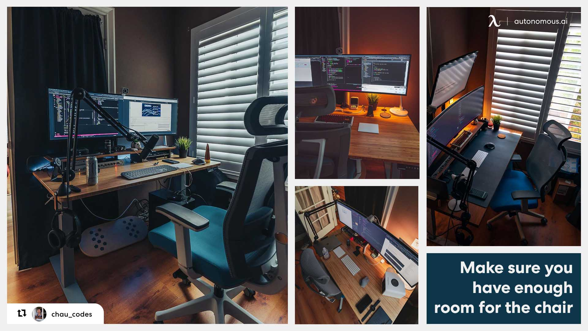 Smart Desk with ergonomic chair