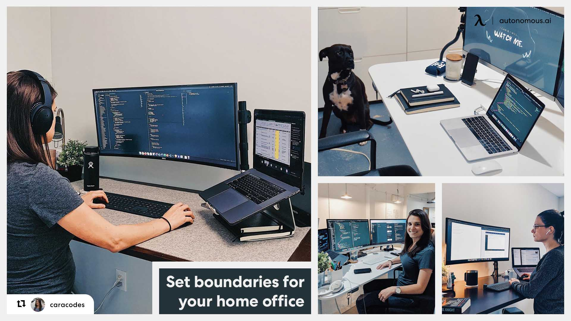 Set boundaries for your home office