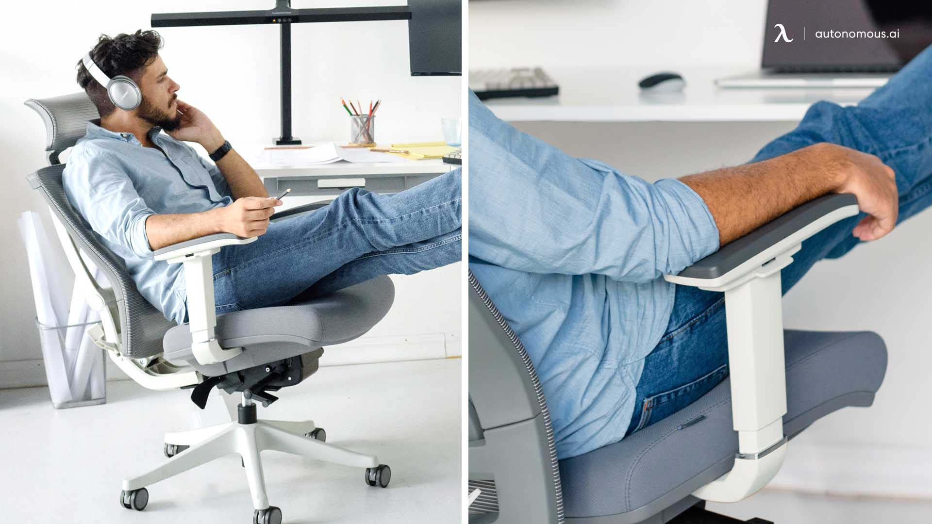 Ergonomic Chair with flip-up armrests