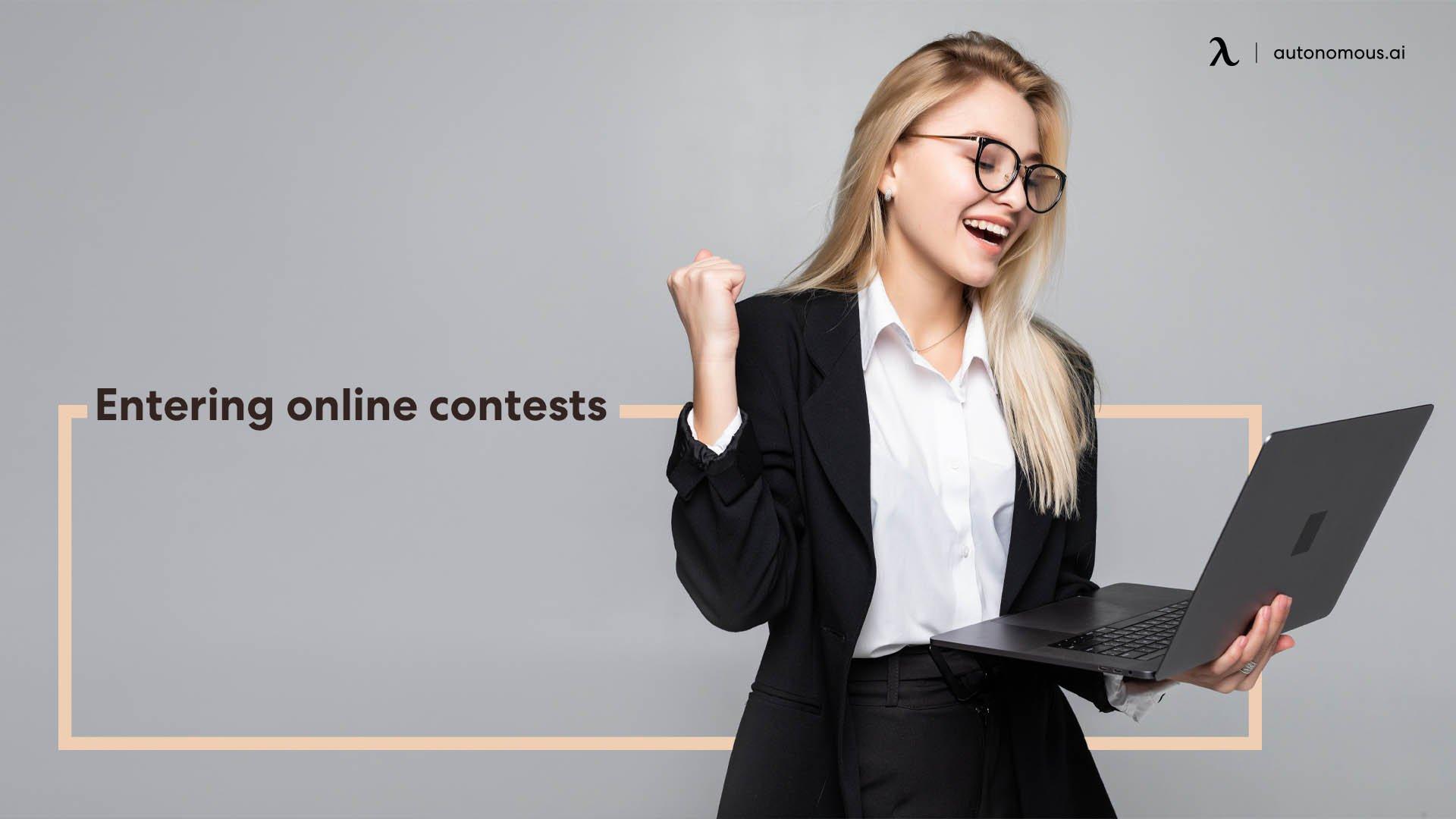 Entering online contests