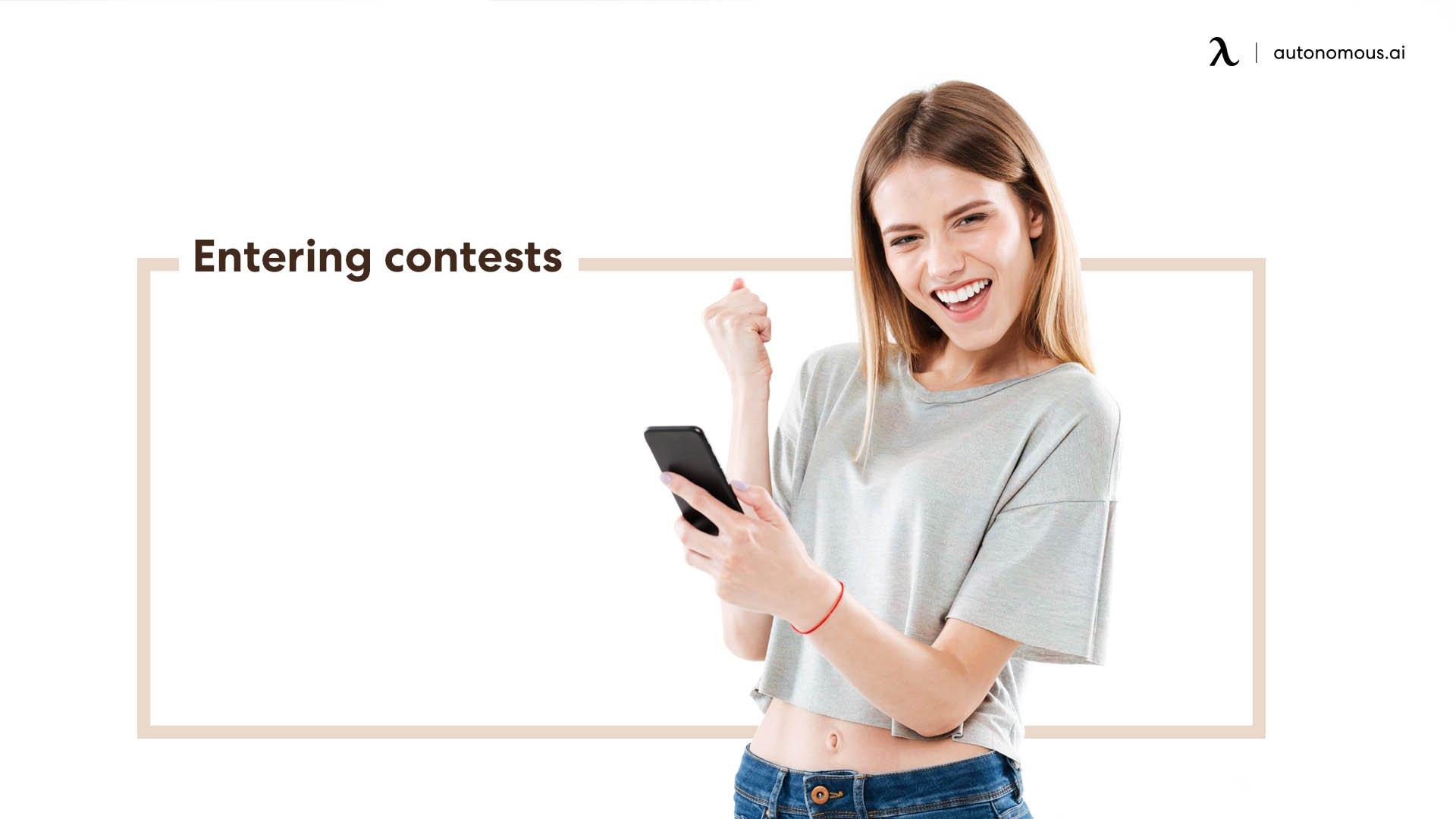 Entering contests