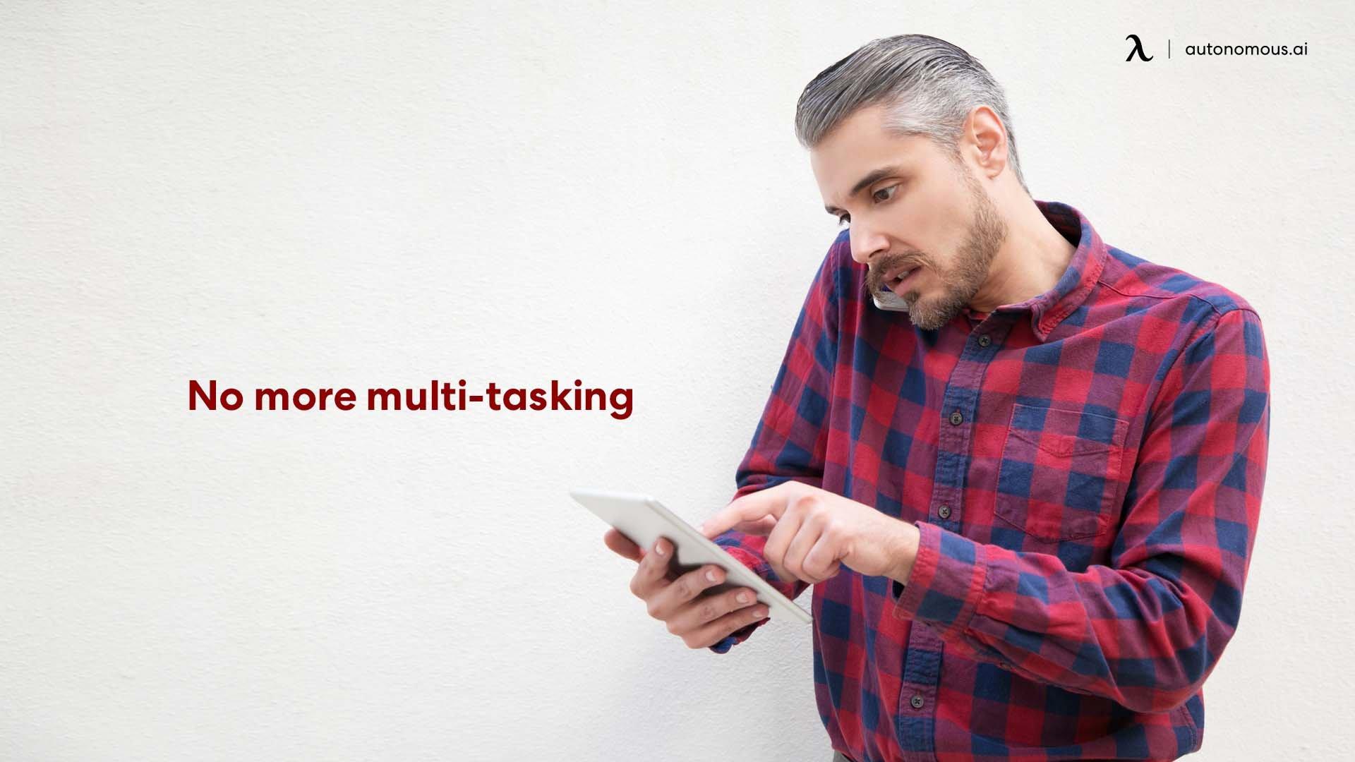 Man multitasking