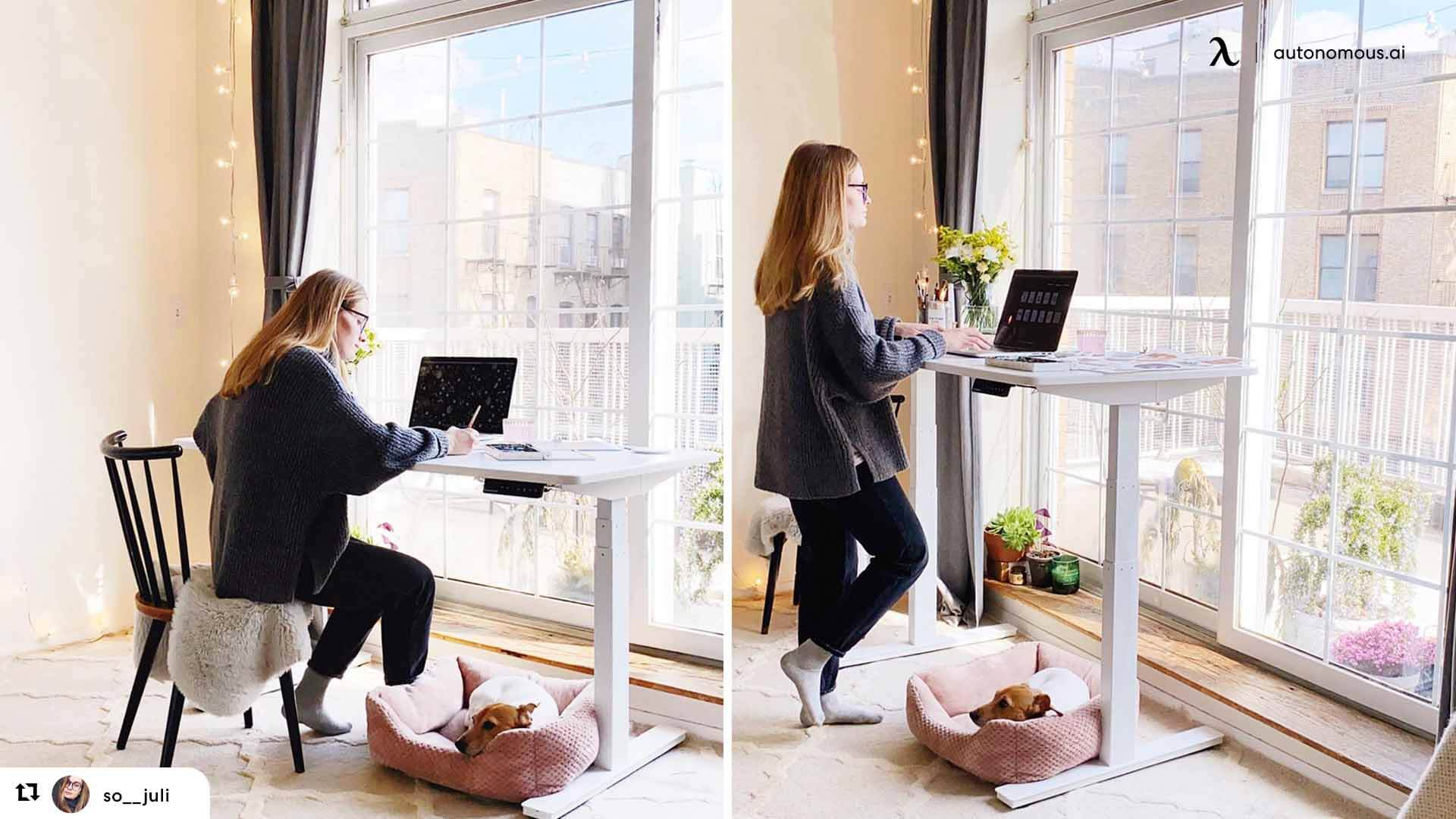 how to stand at standing desk - you should create standing/sitting intervals