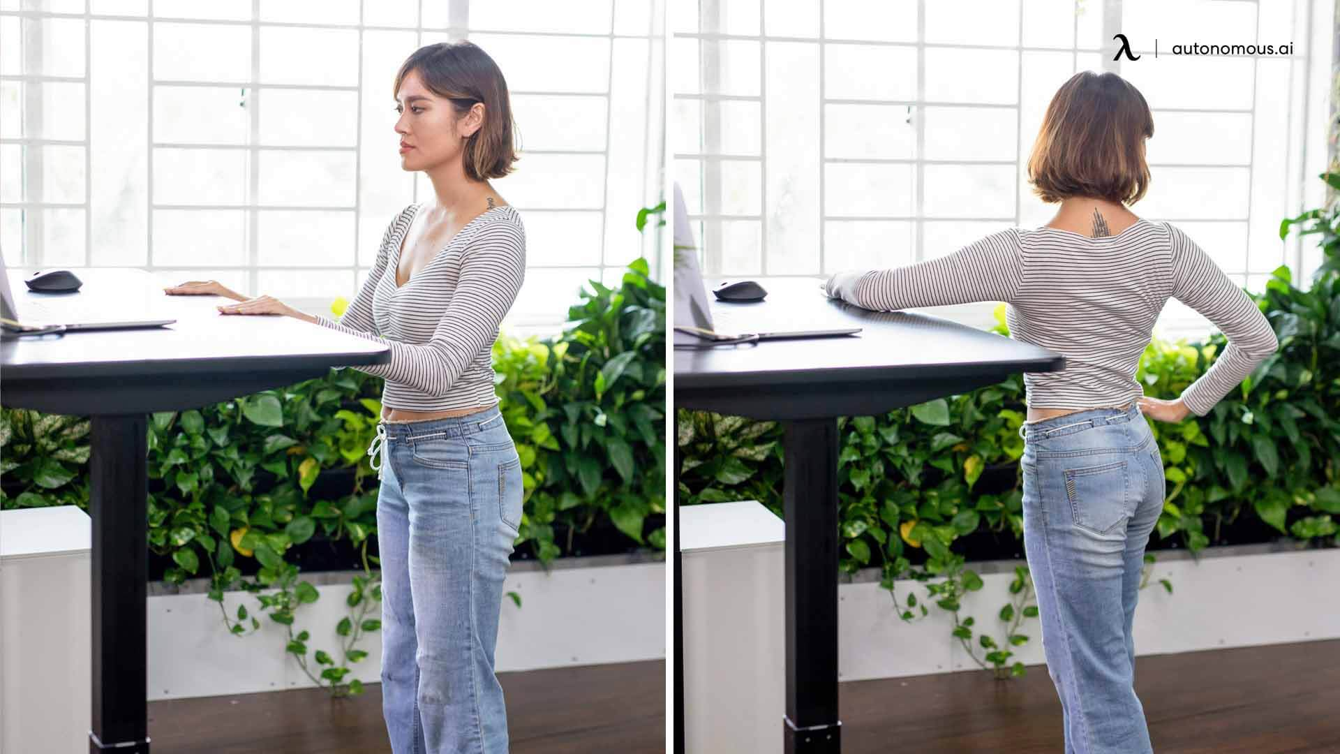 Learn how to stand at standing desk correctly