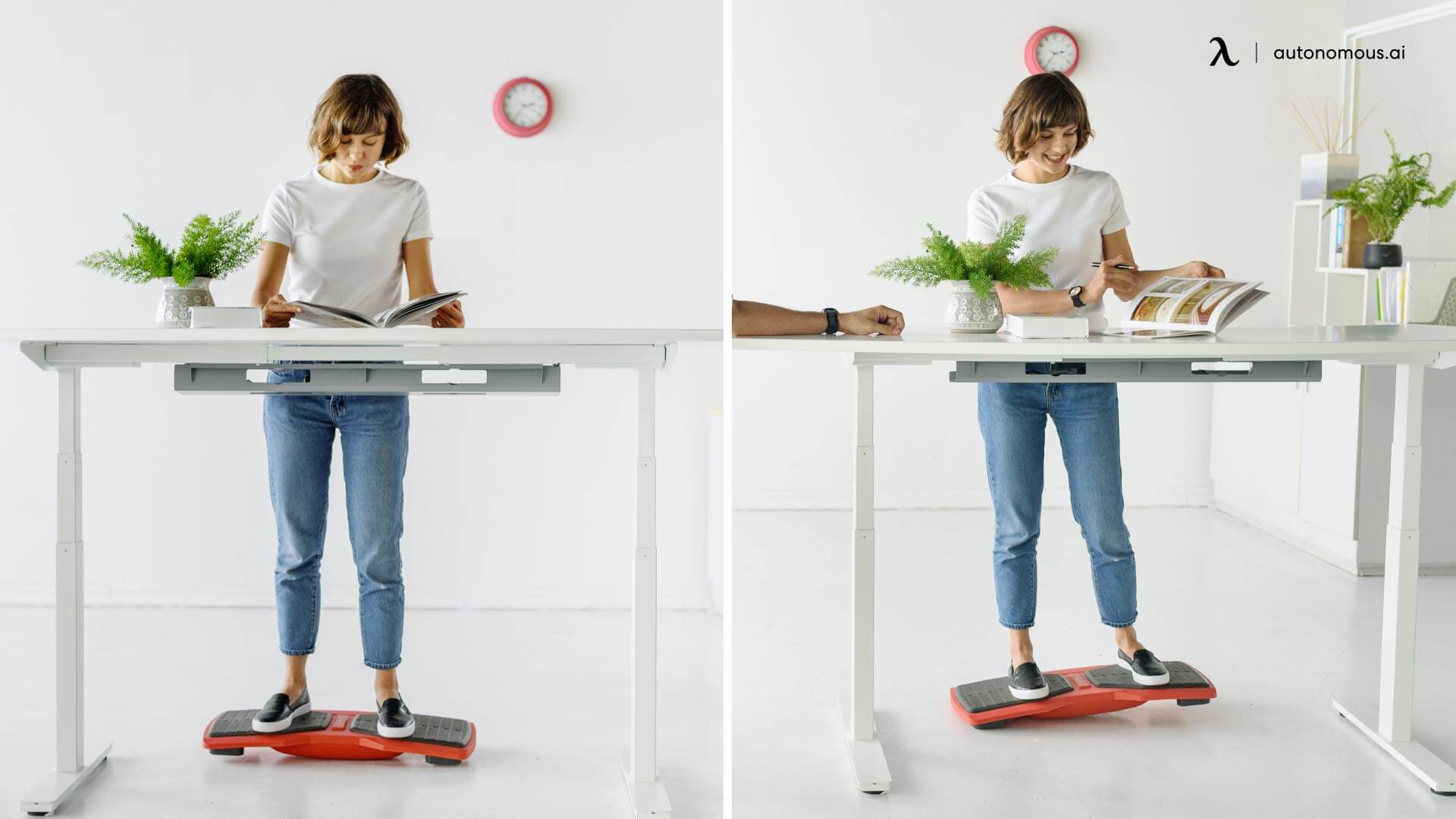 Use standing desk with flow board