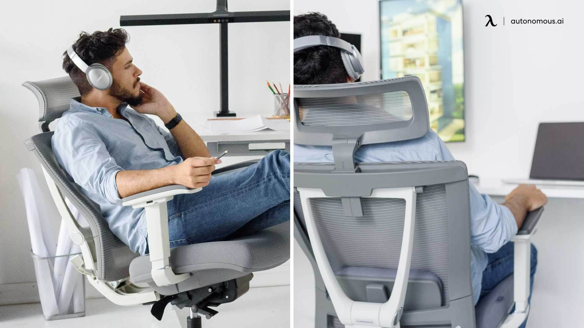 Standing desk tip is using with ergonomic armrest chair