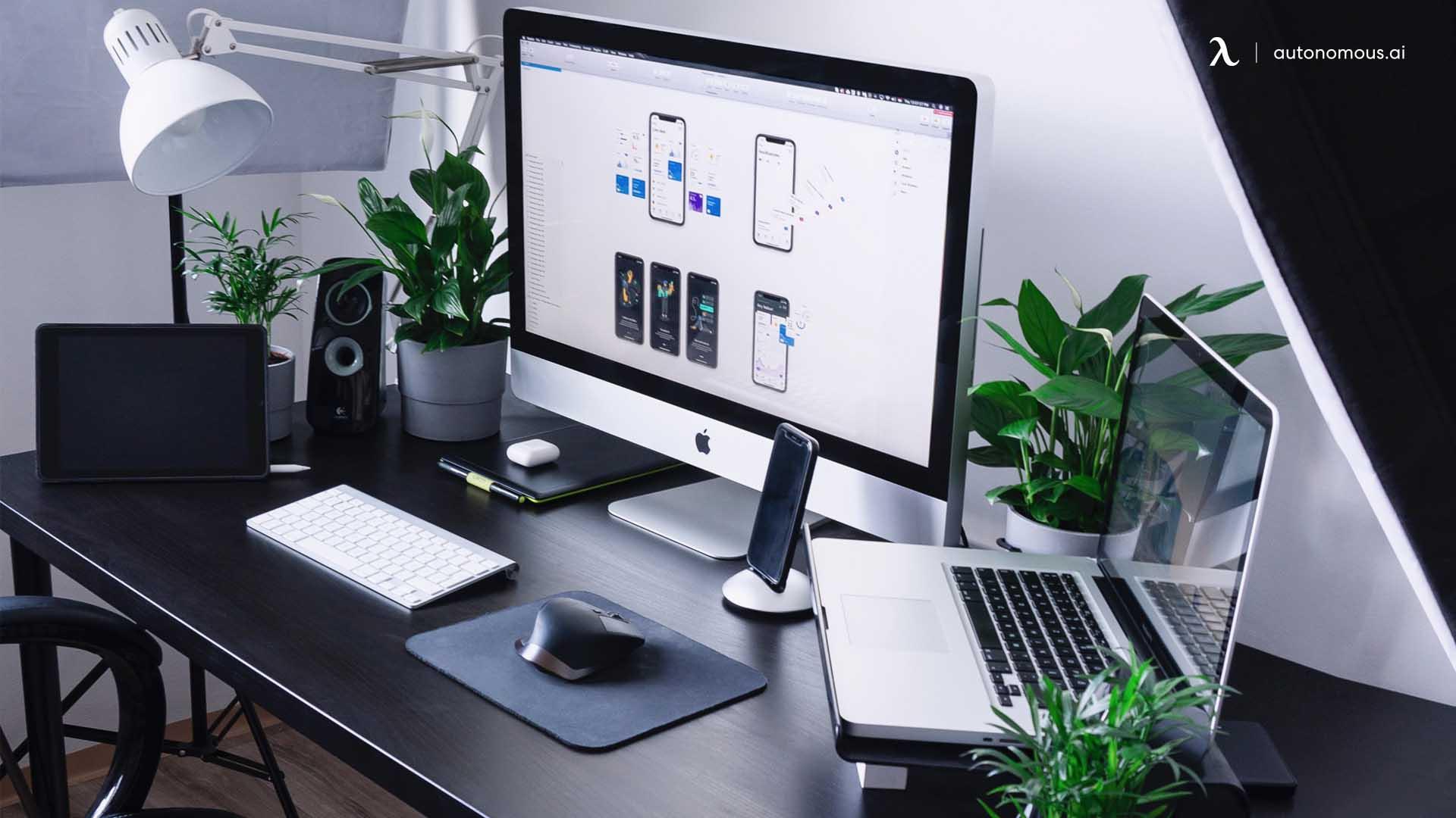 Desk setup for nature lover