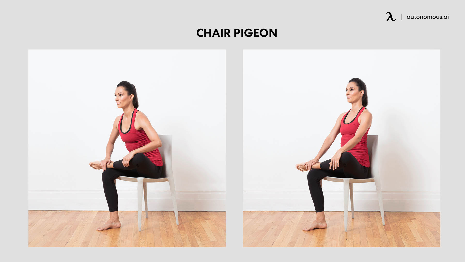 Chair pigeon poses