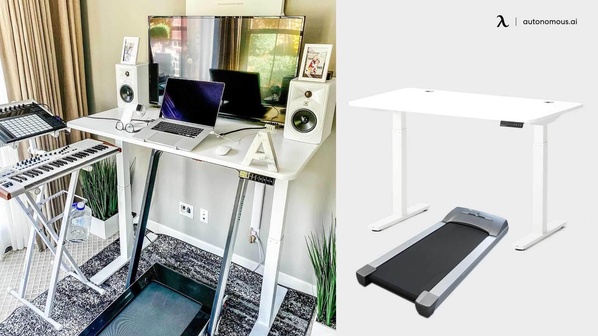 Using treadmill for standing desk exercise
