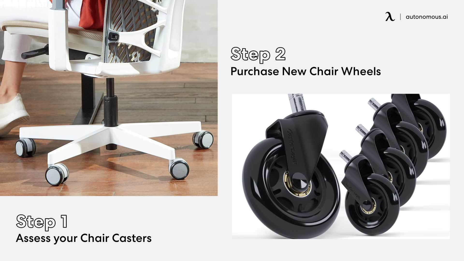 Purchase new office chair casters for replacement